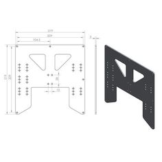 Anet A8 A6 Anodized Y Carriage Aluminum Plate Upgrade for 3D Printer
