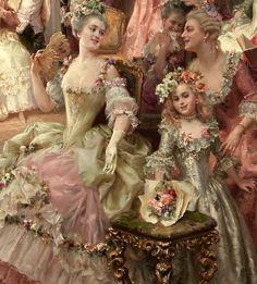 Victorian Paintings, Renaissance Paintings, Victorian Art, Renaissance Art, Fantasy Paintings, Old Paintings, Paintings I Love, Romantic Paintings, Historical Art