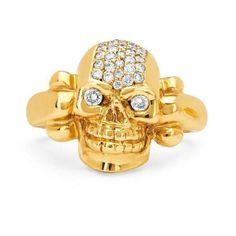 NEW! Pave Celtic Skull Ring