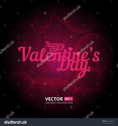 happy valentines day vector background with differents shiny hearts bokeh lights vector illustration microstock pinterest bokeh lights and vector