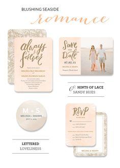 Seaside Wedding Inspiration with Wedding Paper Divas