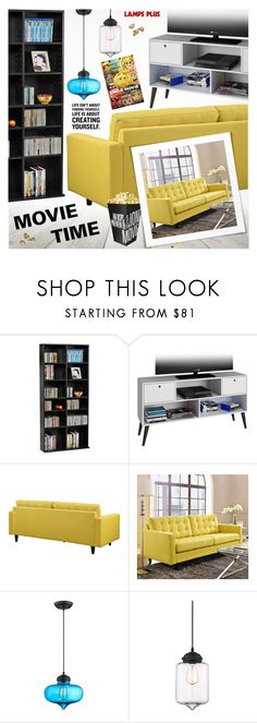 """""""Movie Time"""" by pokadoll ❤ liked on Polyvore featuring interior, interiors, interior design, home, home decor, interior decorating, Oskar the Label and Possini Euro Design"""