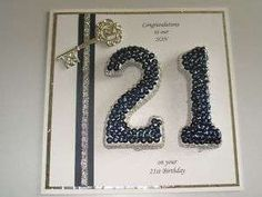 Handmade Personalised Boxed Male 21st Birthday Card