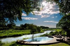 If you are planning your next exotic vacation, consider the Lion Sands Game Reserve. It is a luxury safari resort located in the Sabie Sand. Swimming Pool Designs, Swimming Pools, Kruger National Park, National Parks, Sand Game, Park Lodge, Private Games, Game Reserve, Garden Pool