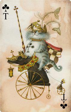 Ermitskoy deck of cards. Dmitry Nepomnyashchii + Olga Popugaeva - The King