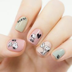 Pin by Niel Langner on Nail art ideas in 2019 Disney Acrylic Nails, Cute Acrylic Nails, Cute Nail Art, Disney Nail Designs, Toe Nail Designs, Cute Pink Nails, Pretty Nails, Diy Nails, Swag Nails