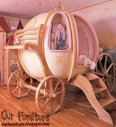 "Disney's ""Cinderella"" Pumpkin Carriage Bed & Playhouse"