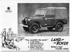 Land Rover Car Print 1953, Advertising Wall Art
