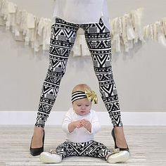 Darling baby/toddler and mommy leggings! Get matching pairs for mommy and me leggings! :) Every child would LOVE to match their mommy! Now you can even match your baby! These darling leggings are polyester and super soft and stretchy which allows th Baby Outfits, Mommy And Me Outfits, Kids Outfits, Cute Outfits, Casual Outfits, Mama Baby, Mom And Baby, Baby Girls, Legging Outfits
