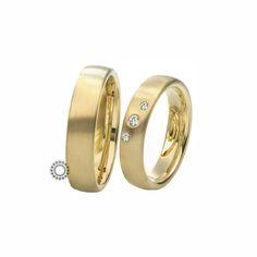 Βέρες γάμου Saint Maurice 81161 & 81162 - Συλλογή TWIN SET - Κλασικές ματ χρυσές βέρες με διαμάντια στη γυναικεία | ΤΣΑΛΔΑΡΗΣ Χαλάνδρι #βέρες #βερες #γάμου