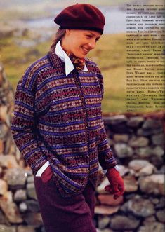 Ravelry: Fair Isle Cardigan pattern by Alice Starmore - more nice colours Fair Isle Knitting Patterns, Knit Patterns, Stitch Patterns, Sweater Patterns, Punto Fair Isle, Art Minecraft, Fair Isle Chart, Norwegian Knitting, Vogue Knitting