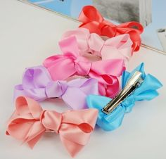 Aliexpress.com : Buy Freeshipping!New Fashion pure color ribbon Hairclips/Bow Hairclip/Hairpins/Hairwear/Hair Accessories/Korean Style/Wholesale from Reliable New Fashion pure color ribbon Hairclips/Bow Hairclip/Hairpins suppliers on HY Global Wholesale