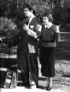 Clark Gable and Claudette Colbert