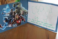 The Imagination Tree: Super-Hero Writing Prompt Writing Area, Work On Writing, Writing Workshop, Writing Prompts, Super Hero Activities, Activities For Boys, Literacy Activities, Superhero Stories, Superhero Writing