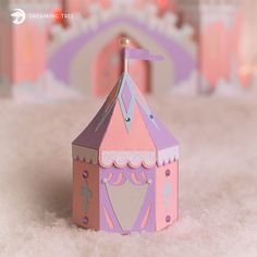 Knights Tent Favor Box SVG