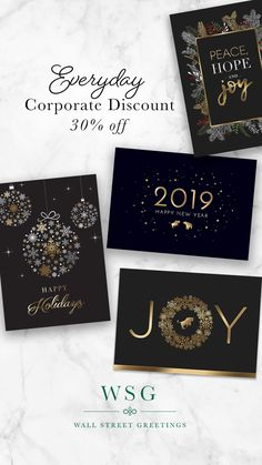 Corporate Holiday Greetings Wall Street Greetings Business