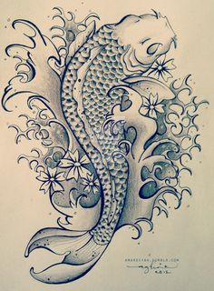 Koi Fish Tattoo by mardiyaha.deviantart.com on @DeviantArt