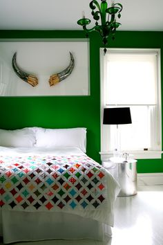 This is the color of our bedroom.  It makes me happy!  Love that chandelier by the way.