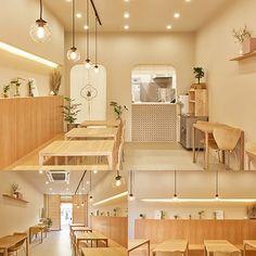 Bakery Shop Interior, Coffee Shop Interior Design, Restaurant Interior Design, Modern Interior Design, Cafe Shop Design, Store Design, Korean Coffee Shop, Korean Cafe, Coffee Shop Aesthetic