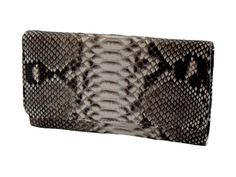 Women's wallet genuine python bk color rock-white