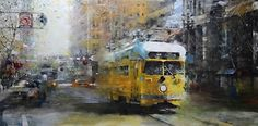 BoldBrush Painting Competition Winner - July 2014   San Francisco Yellow Trolley by Mark Lague