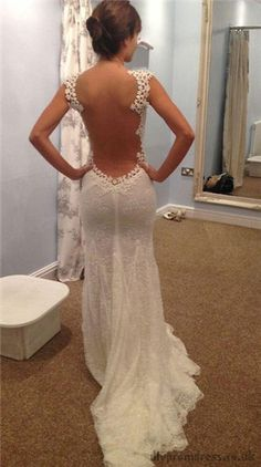 Wedding Dress - Lace details back