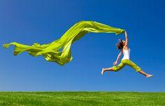 green, vibrant, thriving life