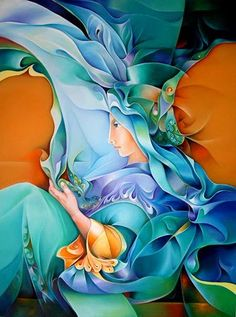 Orestes Bouzon Orestes Bouzon was born in Havana Cuba, February Painting has been a na. Silk Painting, Woman Painting, Contemporary Artists, Modern Art, Cuban Art, Z Arts, Arte Popular, Illustrations, Female Art
