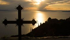 Cross at sunset (Mount Athos, Greece) by Yiannis Papadimitriou / Kai, The Holy Mountain, Kirchen, World Heritage Sites, Where To Go, Sunrise, Outdoor, Image, Macedonia Greece