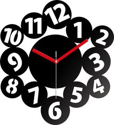 Unique and modern wall clock. The clock captivates everyone who looks at it with its simplicity and beauty. It was made from BLACK ACRYLIC GLASS . It looks perfectly in all interiors. It is not only a clock but also a beautiful decoration to your living room, room or even office. It is ideal as a gift.  Look at our wide offer and fit the best clock to your interior.   Size/Dimensions/Weight Total dimension of the exposition: 30CM X 30CM   Materials utilised Lucite PMMA Quartz movement no…