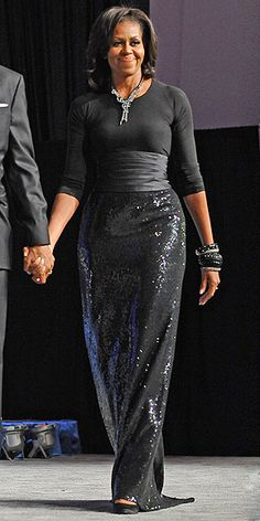 Michelle Obama in Michael Kors, Peter Soronen (September 24, 2011: Congressional Black Caucus Foundation Annual Phoenix Awards Dinner, Washington, DC)
