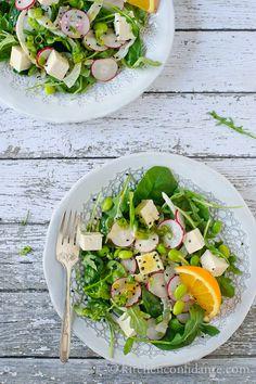 Tofu Salad with Orange Dressing   Kitchen Confidante   Overhead