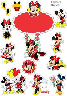 Natal Do Mickey Mouse, Mickey Mouse Christmas, Mickey Mouse Cake, Mickey Mouse Birthday, Minnie Mouse Party, Felt Christmas, Scrapbook Da Disney, Mickey Mouse Pictures, Happy Birthday Printable