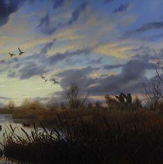A Good Start, duck hunting painting by Brett J Smith, brettsmith.com