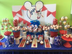 Mickey Mouse Candy Buffet by @sweetdreamsbydana