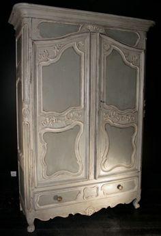 ciel de lit demi lune ange patine gris et blanc shabby chic et romantique romantic canopy. Black Bedroom Furniture Sets. Home Design Ideas