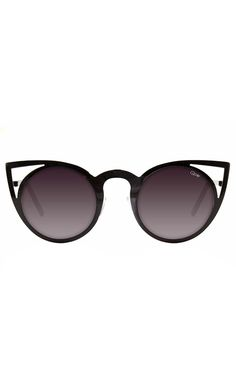 I want these sunglasses so bad!   Quay Eyeware - Invader Sunglasses - Black | Accessories | Peppermayo