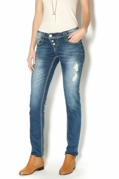 Stretchy slim fit stressed jeans. All finishing operation have been performed manually, great for a casual or dressy look   Slim Fit Jeans by Sublevel. Clothing - Bottoms - Jeans & Denim - Slim Clothing - Bottoms - Jeans & Denim Washington