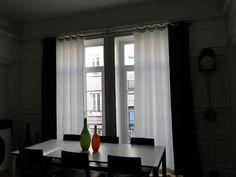 Rideaux blancs noirs sur pinterest rideaux blancs - Rideaux design noir et blanc ...