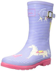Joules  Printed Welly,  Mädchen Stiefel , Violett - Purple (Lavender Horses) - Größe: 34 EU - http://on-line-kaufen.de/joules/34-eu-joules-printed-welly-maedchen-stiefel-2