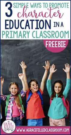 FREE resources to help embed character education in your classroom. Click now to download your freebie!