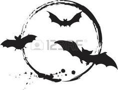 pochoir: Halloween chauves-souris  Illustration