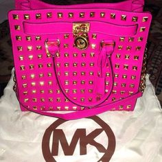 Michael Kors Handbags #Michael #Kors #Handbags -Love this bright pop of color!