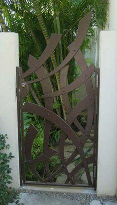Pergola Over Garage Door Metal Garden Gates, Metal Gates, Wrought Iron Gates, Garden Fencing, Garden Entrance, Entrance Gates, Side Gates, Steel Gate, Grades