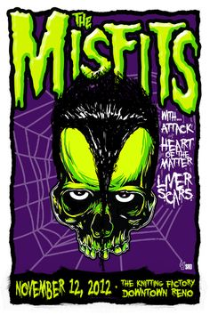 GigPosters.com - Misfits, The - Attack, The - Heart Of The Matter - Liver Scars