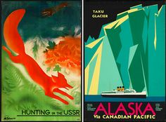 absolutely LOVE vintage travel posters <3