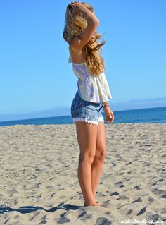 How to made lace denim shorts from old jeans