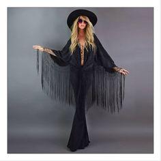 I wanna rock your gypsy soul (black & burgundy) / Girl On A Vine Estilo Hippie Chic, Hippie Style, Bohemian Style, 70s Fashion, Autumn Fashion, Fashion Outfits, Gypsy Style Outfits, Cheap Fashion, Fashion Women