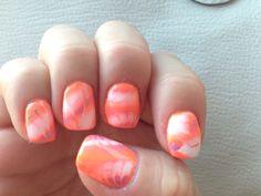 My marble gel manicure. It's growing on me.