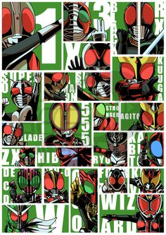 the-ankle-rocker:  Kamen Riders 1971 - 2013 by ashmish It's come a long way…